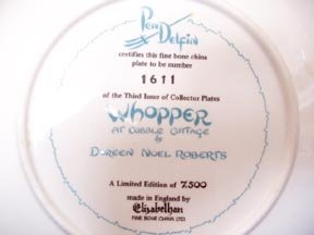 PenDelfin Collector Plate - Whopper at Cobble Cottage