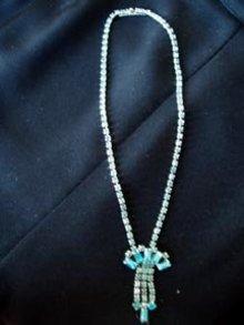 Turquoise Rhinestone Necklace