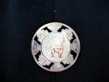 Peruvian Llama Pin/Pendant  .925 Silver and 18K Gold
