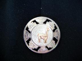 Peruvian Llama Pin/Pendant  .925 Silver and 18K Gold