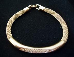 Bracelet - Goldtone Mesh