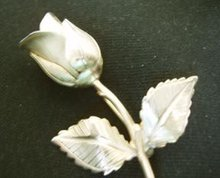 Rose Pin Goldtone