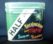 Tobacco Tin Half and Half Buckingham  Bright 1939