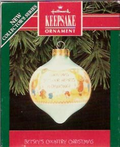 Hallmark Betsey's Country Christmas Ornament 1992