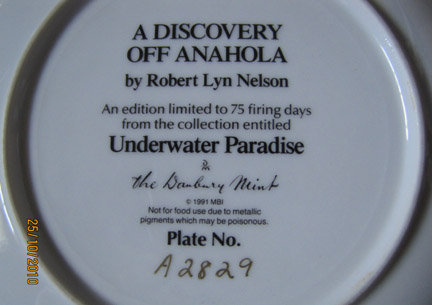 Danbury Plate - A Discovery Off Anahola