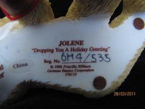 Cherished Teddies Jolene