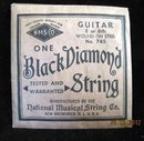 Lot of  5 Black Diamond Guitar Strings made by National Musical String Company