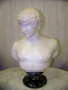 Italian White Marble Sculpture of Antonios