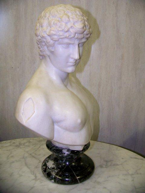 Italian White Marble Sculpture of Antonios