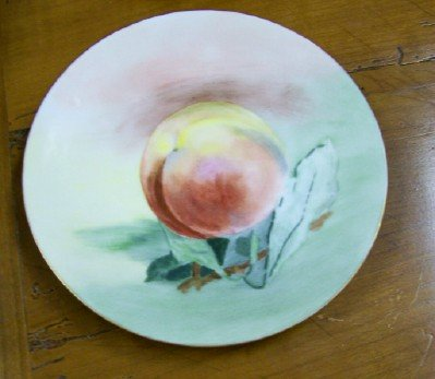 4 Hand Painted Fruit Plates