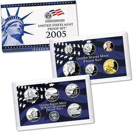 2005 US Mint Proof Set 11 Coins New In Box  with  Certificate of Authenticity