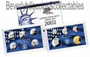 2002 US Proof Set with Certificate of Authenticity  10 coins