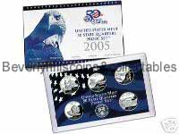 2005 US  State Proof Set with Certificate of Authenticity  5 coins