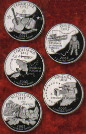 2002 State Quarters Uncirculated Philadelphia & Denver 10 coins