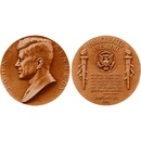John F. Kennedy  Bronze Medal US MINT  Velvet Case