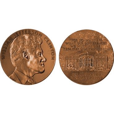 William J. Clinton  Bronze Medal US MINT Case Term 2