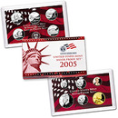 2005  US Mint SILVER Proof Set  NIB w Cert of Auth