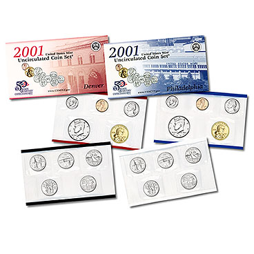 2001 US MINT SET Certificate of Authenticity New Set