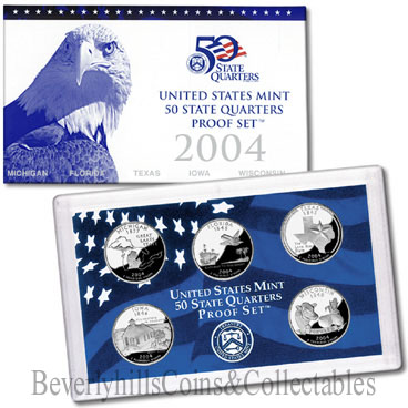 2004 US  50 STATE Quarter Proof Set Certificate of Authenticity