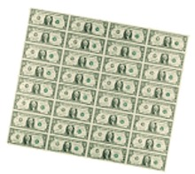 Series 2003A  32-Subject $1 Notes Sheet Roll