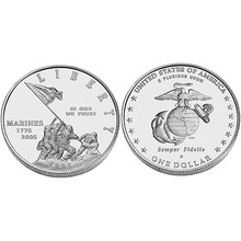 2005 Marine Corps 230th Anniversary Uncirculated Silver Dollar  US Mint