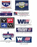 9 GEORGE W BUSH STICKERS BUMPER OTHER