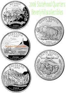 2006  50 STATE QUARTERS Uncirculated Philadelphia & Denver All 10 coins 50 State