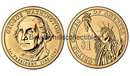 2007 Presidential Dollar Coins George Washington Dollar coin set P & D  UPSIDE DOWN EDGE Position A