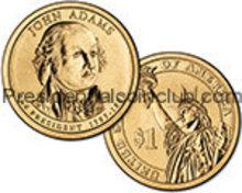 2007 Presidential John Adams Dollar coin set P & D  Position