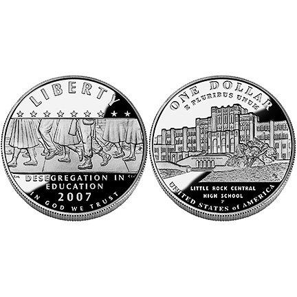 2007 Little Rock Desegregation Silver Dollar Proof