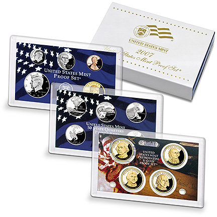 2007 United States Mint Proof Set 14 Coins w/ Certificate  Authenticity