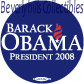 2008 BARACK OBAMA for PRESIDENT Campaign BUTTON