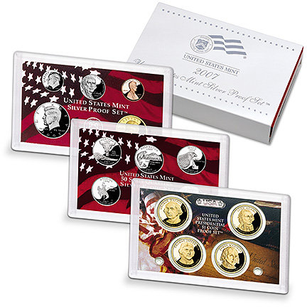 2007 United States Mint Silver Proof Set 14 Coins