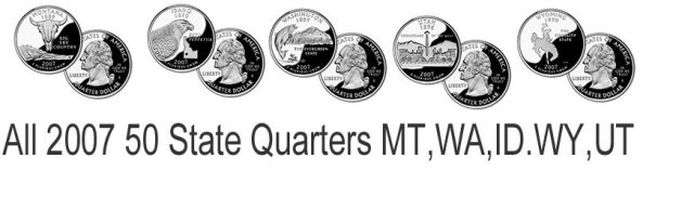 2007 50 STATE QUARTERS UNC Philadelphia Denver 10 coin