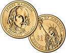 2007 James Madison Presidential Dollar coin set P &  D