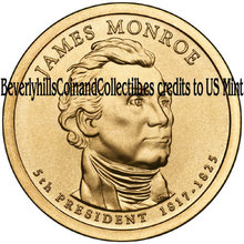 2008 James Monroe Presidential Dollar coin set Philadelphia  Denver