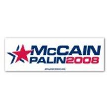 2008 McCain  Palin BUMPER STICKER President