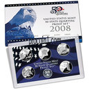 2008 United States Mint 50 State Quarters Proof Set