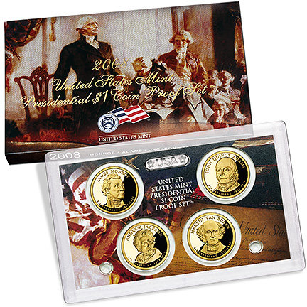2008 United States Mint Presidential $1 Coin Proof Set