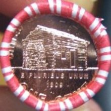 2009 Lincoln Cent Roll Denver early years log cabin