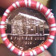 2009 Lincoln Cent Phil Early years log cabin 1 coin