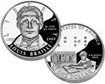 2009 Louis Braille Commemorative Proof Silver Dollar