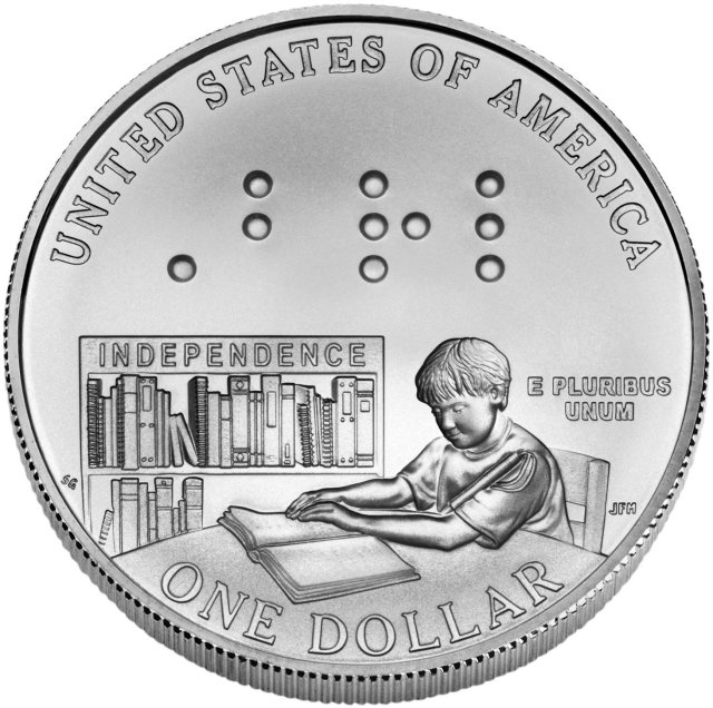 2009 Louis Braille Commemorative Uncirculated Silver Dollar