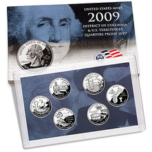 2009 S State Territories Quarter Proofs (6 coins)