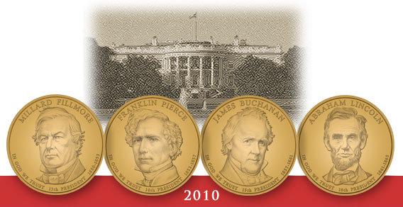 2010 Presidential Coins Philadelphia and Denver Mint UNC