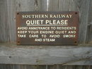 SOUTHERN RAILWAY QUIET PLEASE SIGN CAST IRON