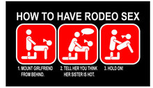 RODEO FUN HEAVY METAL SIGN