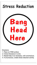 STRESS REDUCTION HEAVY METAL SIGN
