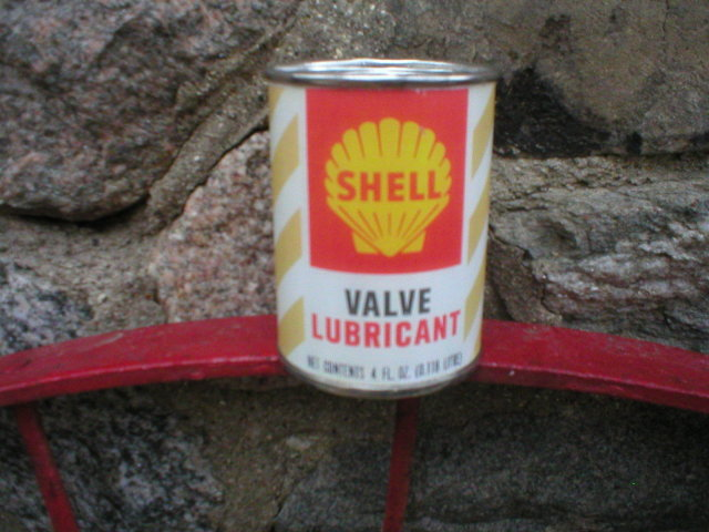 SHELL VALVE LUBRICANT CAN BANK