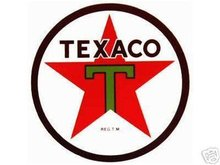 TEXACO T-STAR ROUND VINYL DECAL 12